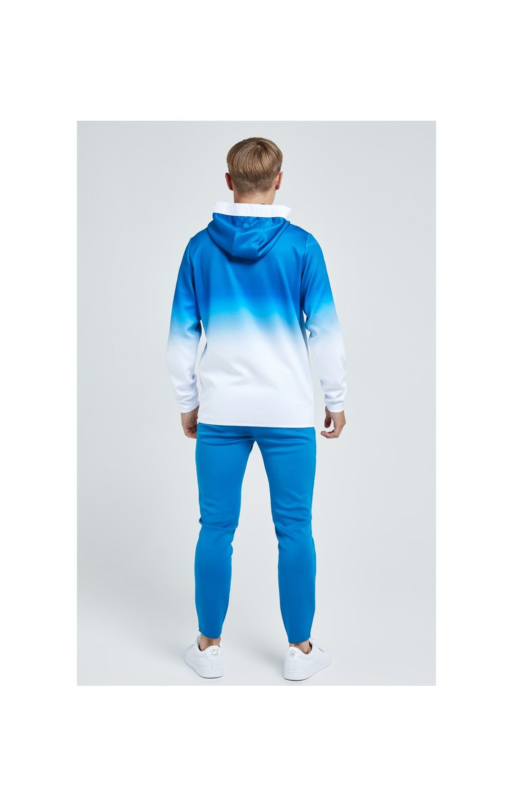 Load image into Gallery viewer, Illusive London Elevate Agility Zip Through Hoodie - Blue & White (5)