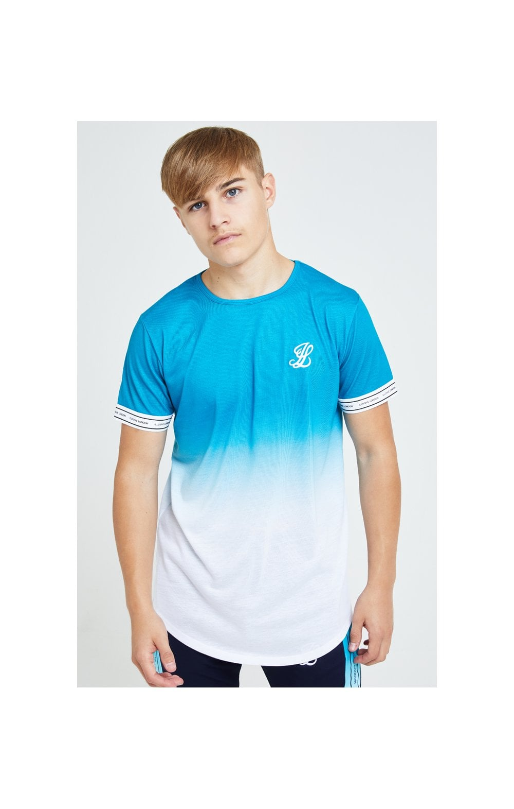 Load image into Gallery viewer, Illusive London Flux Tech Tee - Blue & White