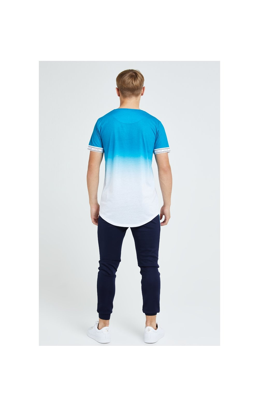 Load image into Gallery viewer, Illusive London Flux Tech Tee - Blue & White (5)