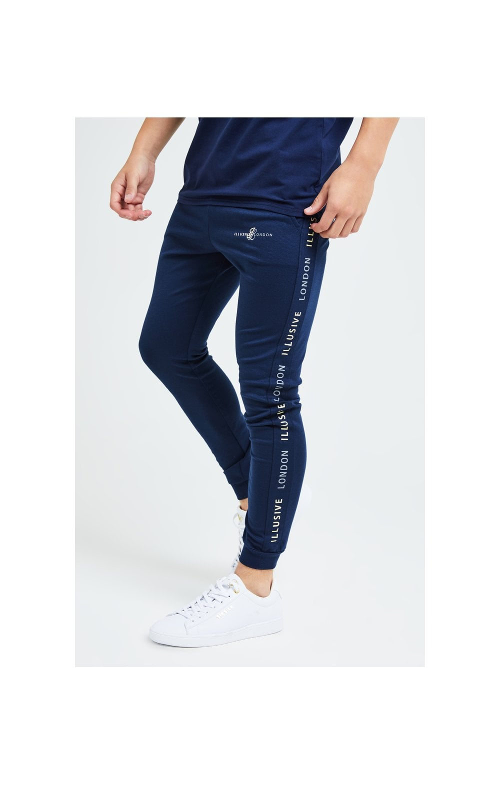 Illusive London Legacy Joggers - Navy & Cream