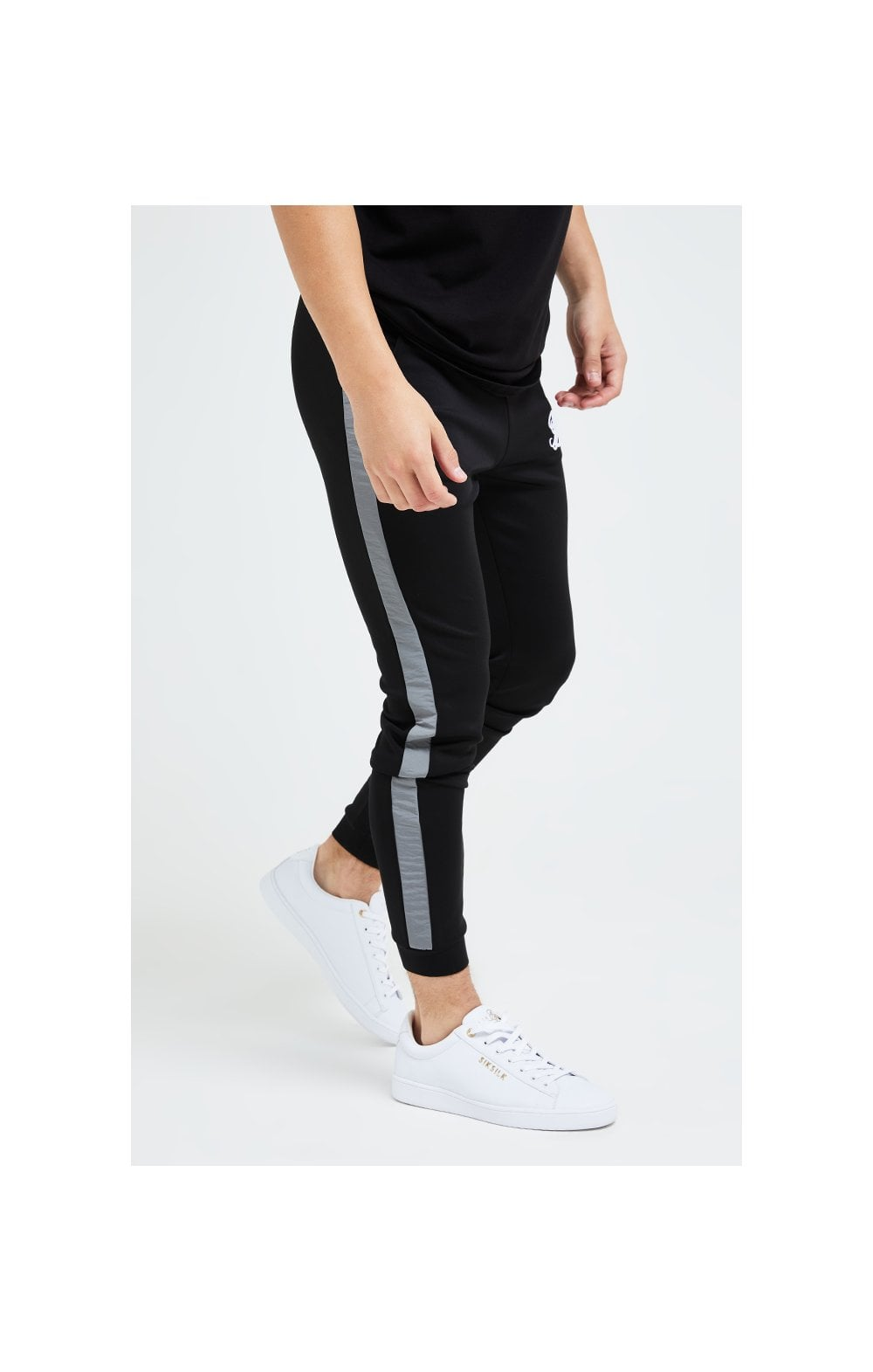 Illusive London Hybrid Joggers - Black & Grey (3)