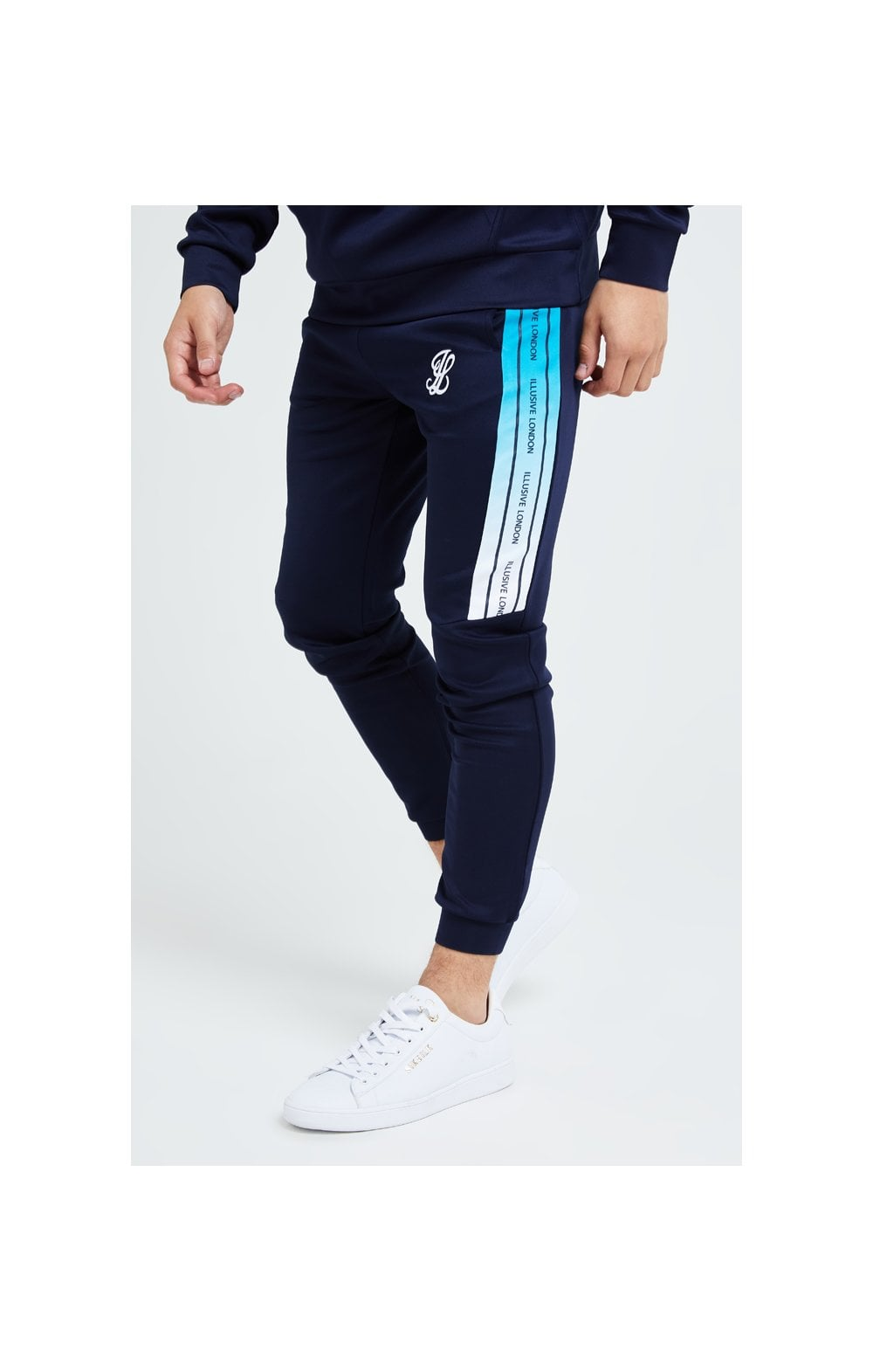 Illusive London Flux Taped Joggers - Navy & Blue