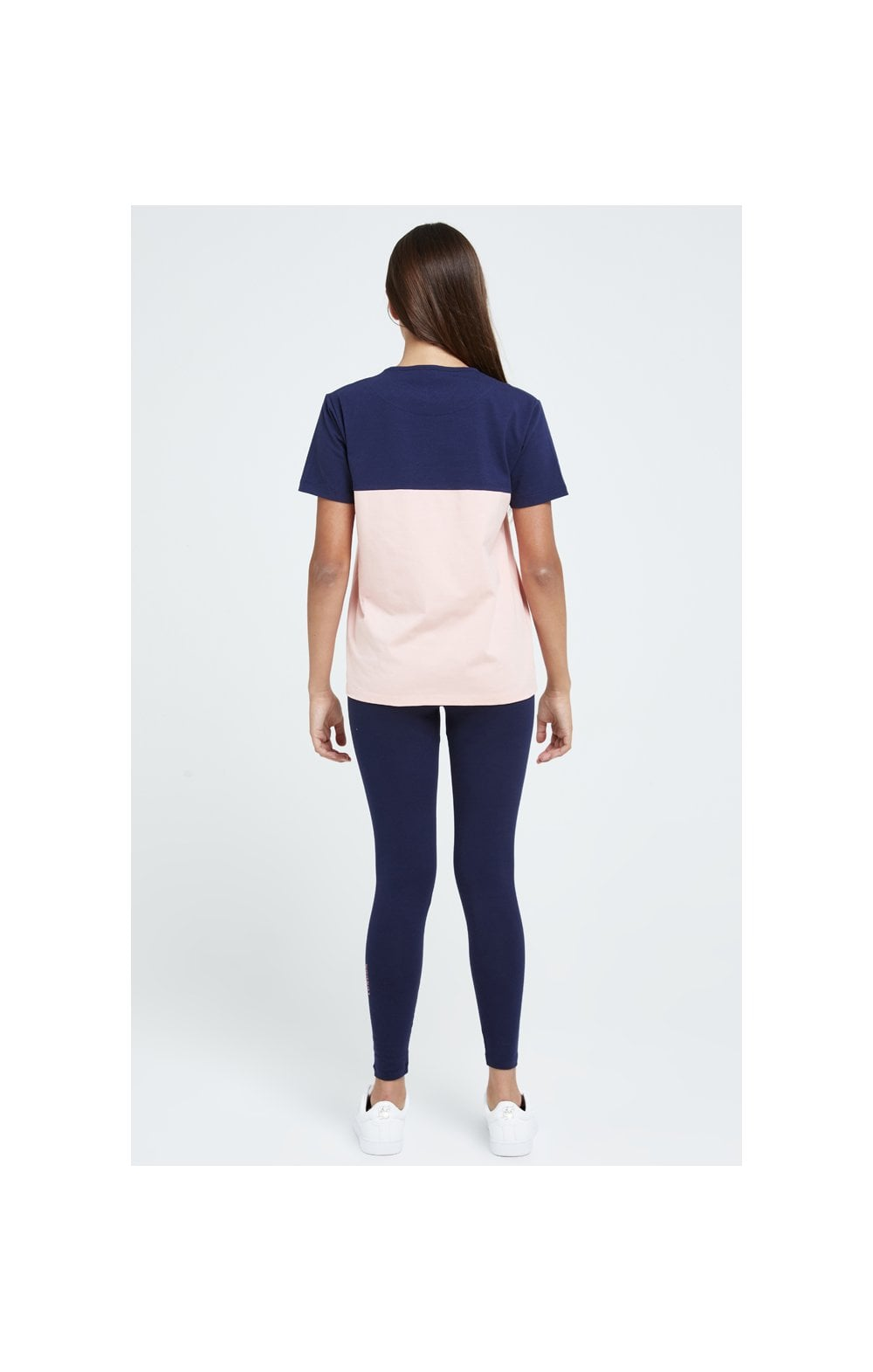 Illusive London Colour Block Boyfriend Tee - Navy & Pink (3)