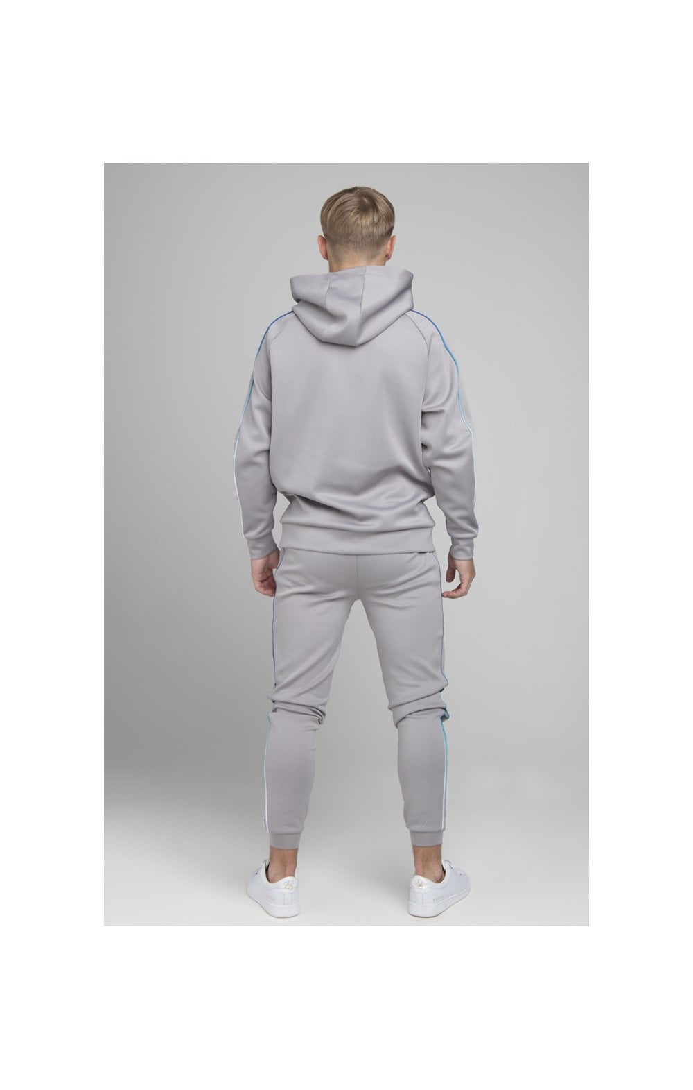 Illusive London Poly Piped Overhead Hoodie - Light Grey (5)