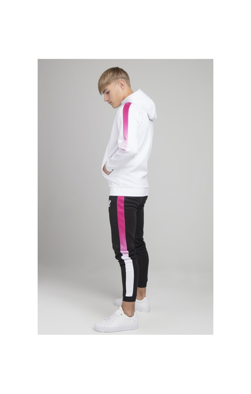 Illusive London Fade Panel Zip Through - White & Pink (2)