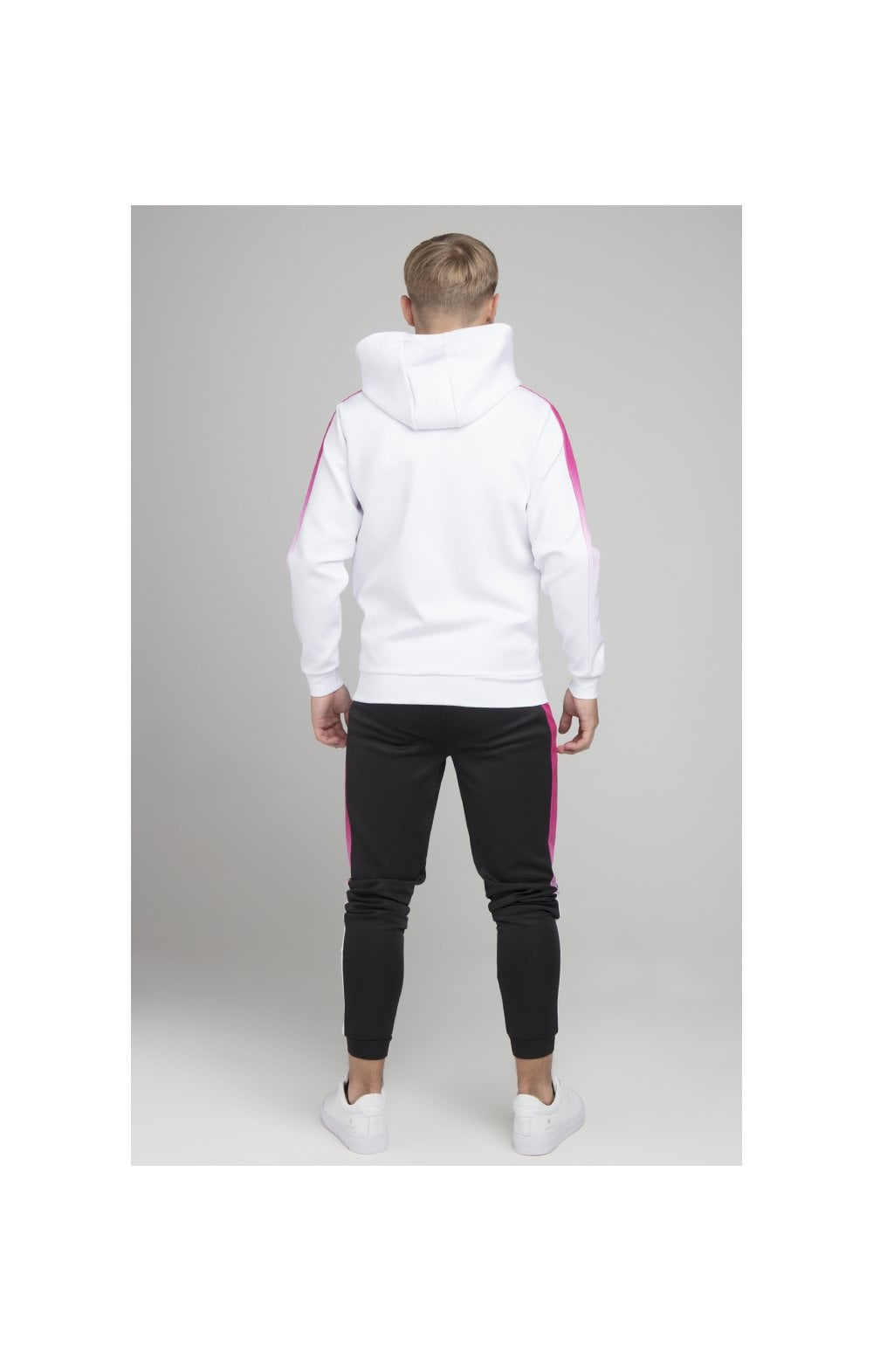 Illusive London Fade Panel Zip Through - White & Pink (4)