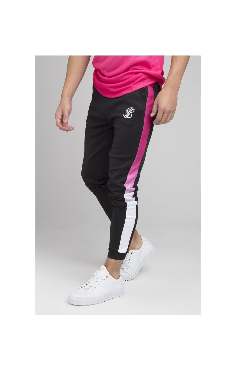 Illusive London Fade Panel Jogger - Black