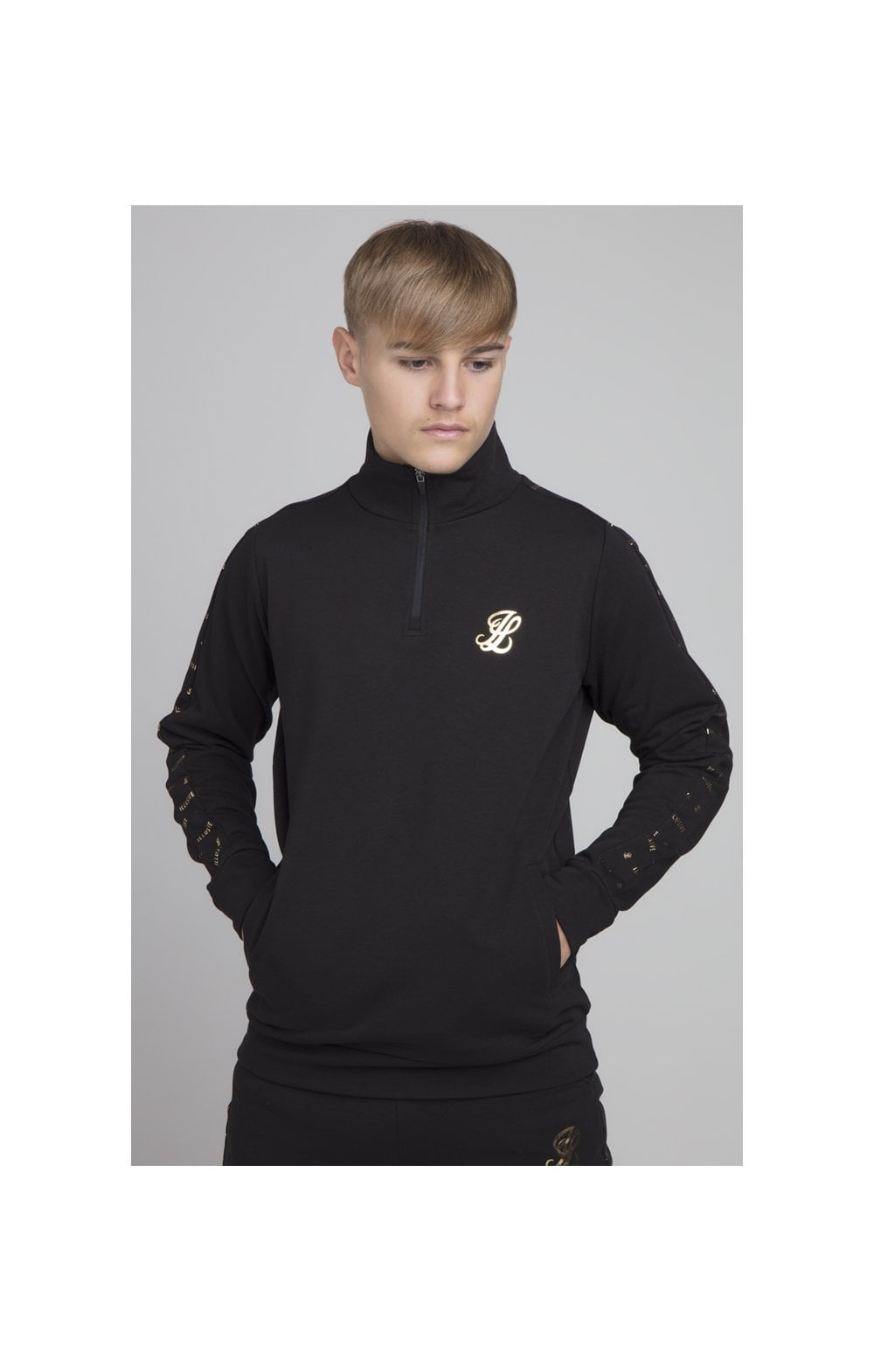 Load image into Gallery viewer, Illusive London Panel Funnel Neck - Black