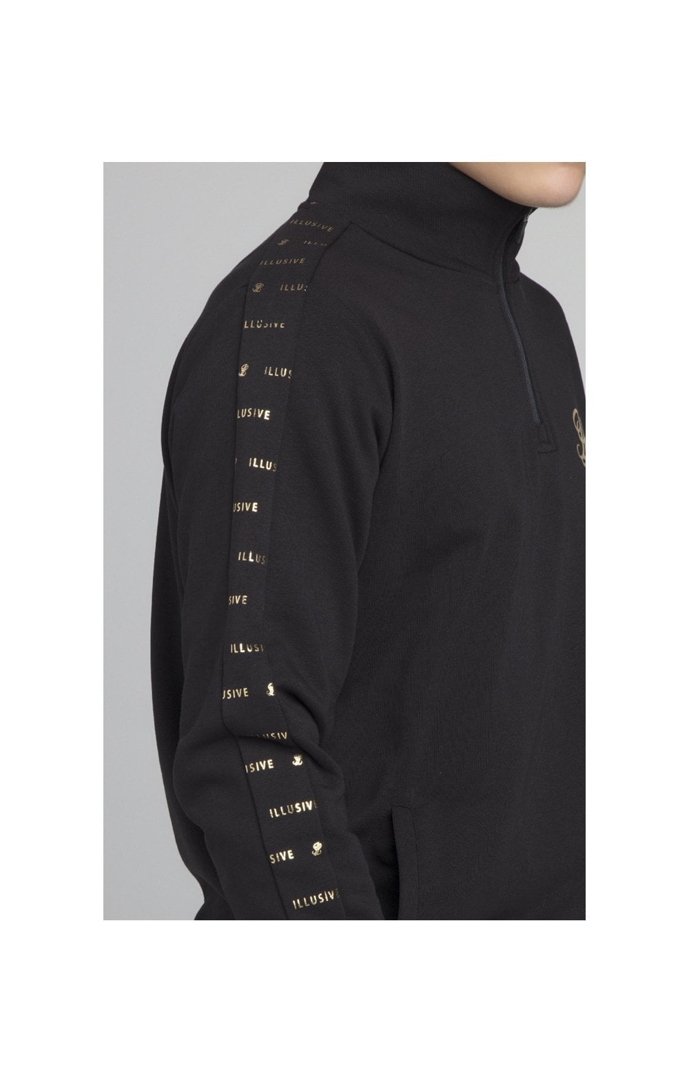 Load image into Gallery viewer, Illusive London Panel Funnel Neck - Black (1)