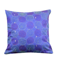 Load image into Gallery viewer, Beautiful Blue Green Silk Hand Kantha Work Reversible Cushion Cover Cushions Arteastri