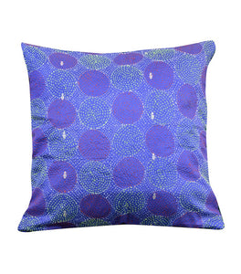 Beautiful Blue Green Silk Hand Kantha Work Reversible Cushion Cover Cushions Arteastri