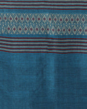 Load image into Gallery viewer, Blue Red Handwoven Assamese Cotton Stole - Arteastri