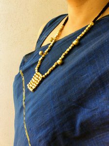 Brass Beaded Orissa Tribal Pendant Set - Arteastri
