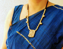 Load image into Gallery viewer, Brass Beaded Orissa Tribal Pendant Set - Arteastri