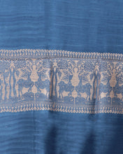 Load image into Gallery viewer, Elegant Blue Beige Eri Silk Baluchari Hiran Stole - Arteastri