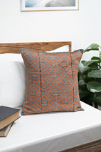 Load image into Gallery viewer, Green Red Handcrafted Kantha Cotton Cushion Cover Cushions Arteastri