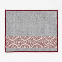 Load image into Gallery viewer, Grey Maroon Axomiya Cotton Table Mats Tablemats Arteastri