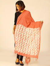 Load image into Gallery viewer, Handloom Brown Woven Shibori Cotton Dupatta - Arteastri
