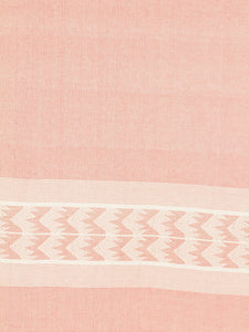 Handloom Cotton Ivory Pink Rod Pocket Window Curtain - Arteastri