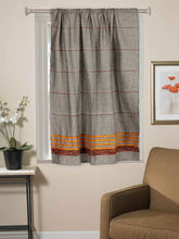Load image into Gallery viewer, Handloom Cotton Khesh Grey Rod Pocket Window Curtain - Arteastri