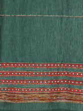 Load image into Gallery viewer, Handloom Cotton Khesh Kantha Green Rod Pocket Door Curtain - Arteastri