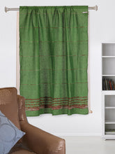 Load image into Gallery viewer, Handloom Cotton Khesh Pickle Green Rod Pocket Window Curtain - Arteastri