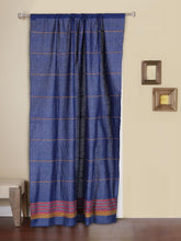 Load image into Gallery viewer, Handloom Cotton Khesh Zaffre Blue Rod Pocket Door Curtain - Arteastri