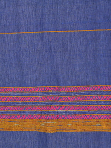 Handloom Cotton Khesh Zaffre Blue Rod Pocket Door Curtain - Arteastri