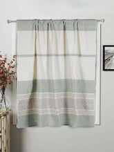 Load image into Gallery viewer, Handloom Cotton  Sage Green Rod Pocket Window Curtain - Arteastri