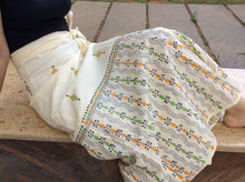 Load image into Gallery viewer, Ivory White Hand Kantha Wrap Skirt - Arteastri