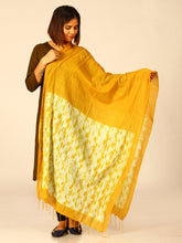 Load image into Gallery viewer, Mustard Yellow Woven Shibori Cotton Dupatta - Arteastri