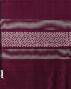 Purple Handwoven Assamese Cotton Stole - Arteastri