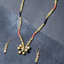 Load image into Gallery viewer, Red Black Handmade Beaded Ball Jewellery Set JEWELLERY Arteastri