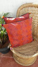 Load image into Gallery viewer, Rust  Vintage Silk Kanthawork Cushion Cover - Arteastri