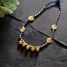 Load image into Gallery viewer, Stunning Handmade Blue Dokra necklace JEWELLERY Arteastri