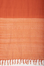 Load image into Gallery viewer, Stunning Orange Handloom Shibori Wool Stole STOLES AND SCARVES Arteastri