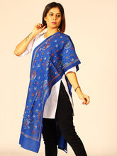 Load image into Gallery viewer, Stylish Blue Paisely Cotton Kantha Stole - Arteastri