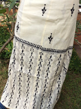 Load image into Gallery viewer, White Cotton Hand-embroidered Adult Wrap Skirt - Arteastri
