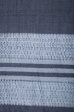 Load image into Gallery viewer, Woolen Stole- Indigo Ivory Handloom Shibori Wool Stole STOLES AND SCARVES Arteastri