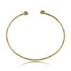 Expandable Tiny Ball Bangle Bracelet, CZ Crystals Adjustable Gold Plated Wire Bracelet - TZARO Jewelry - 1