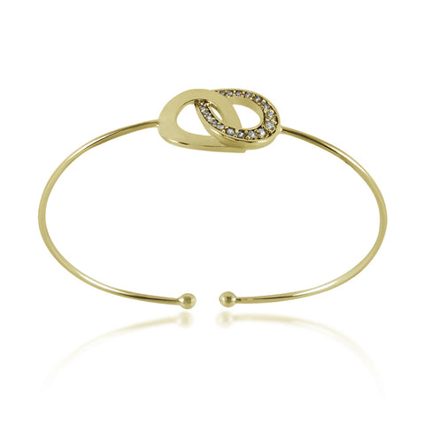 Rings Bracelet Gold Plated, CZ Interlocking Bracelet, Infinity Bracelet - TZARO Jewelry - 1