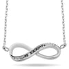 Silver Infinity Necklace, Silver Plated Necklace, Infinity Charm Necklace, Tiny Infinity Necklace - TZARO Jewelry - 1