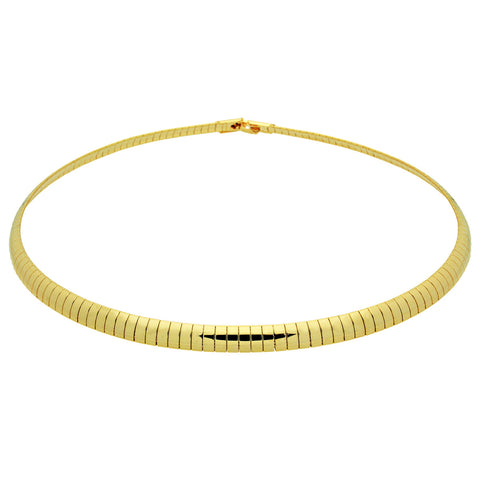 Cleopatra Necklace, Choker Jewelry Collar Necklace, Gold Plated Cuff Necklace - TZARO Jewelry - 1