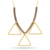 Triangle Necklace,14K Gold Plated Geometric Modern Bar Necklace, Floating Triangle Necklace - TZARO Jewelry - 1