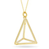 Triangle Necklace,14K Gold Plated Geometric Lariat Modern Triangle Necklace - TZARO Jewelry - 1