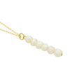 Pearl Bar Necklace, 14K Gold Plated Vertical Bar Necklace, Fresh Water Pearls Necklace - TZARO Jewelry - 2