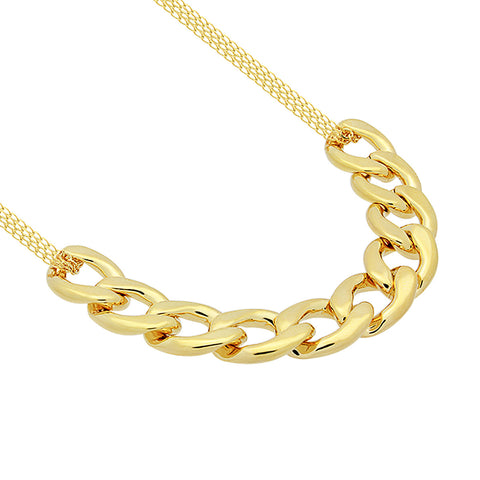 Chunky Necklace, 14K Gold Plated Big Chain Necklace, Large Gold Chain Necklace - TZARO Jewelry - 2