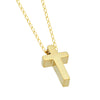 Tiny Cross Necklace, 14K Gold Plated Small Christian Cross Necklace, Dainty Cross Charm - TZARO Jewelry - 2