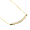 Mesh Bar Necklace Filled with Crystals,14K Gold Plated Birthstone Tube Necklace - TZARO Jewelry - 2