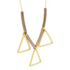 Triangle Necklace,14K Gold Plated Geometric Modern Bar Necklace, Floating Triangle Necklace - TZARO Jewelry - 2